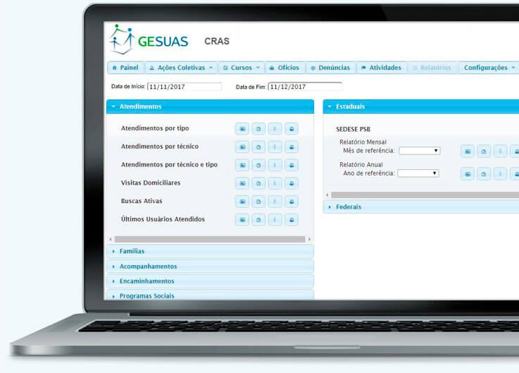 Tela de relatórios de monitoramento automáticos